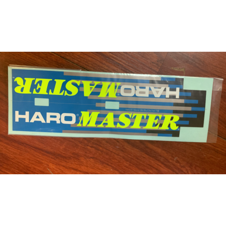 HARO RETRO 1987 FREESTYLE TEAM MASTER FRAME STICKER SET GREEN BLACK OLD SCHOOL