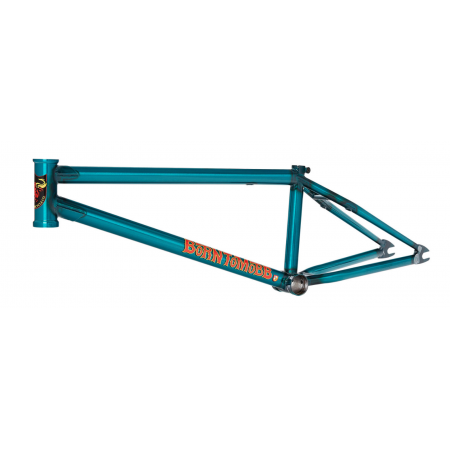 "S&M BIKES BTM MIKE HODER SIGNATURE 21 FRAME TRANS TEAL BMX BIKE 21"" GREEN"
