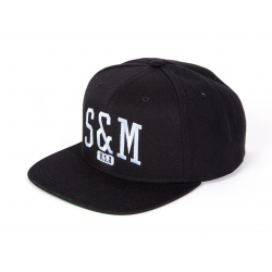S&M CREW BLACK CLASSIC SNAP BACK FIT BIKE HAT BMX BIKES