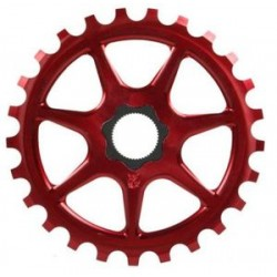 S&M Bikes L7 Red Sprocket Chainwheel 25 T Fit Tooth Fit Shadow Profile Light