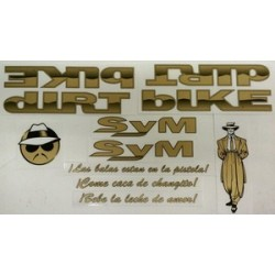 S&M Og  Sticker Decal Set Dirtbike Lowrider Retro Bmx Old School Low Rider