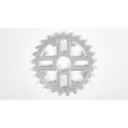 Fit Bike Key Sprocket 28 T Polished Bright Silver Keyguard 28t S&M Bmx Bikes Fbm