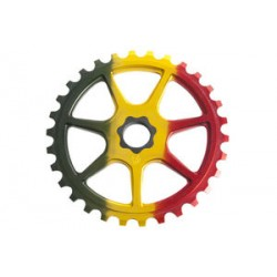 S&M Bikes L7 Rasta Sprocket Chainwheel 30 T Fit Tooth Profile Limited Green Red