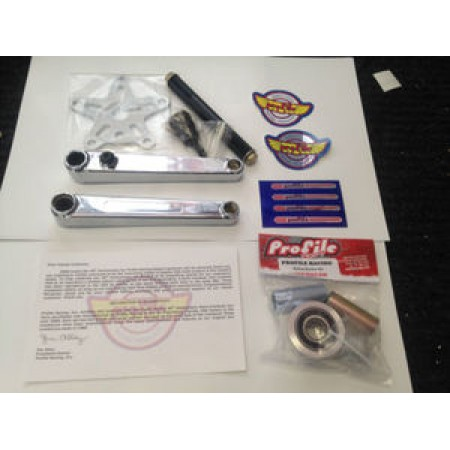 Profile Bmx Racing 40th Anniversary Vintage Box Cranks 175 Chrome 40 Crank Retro