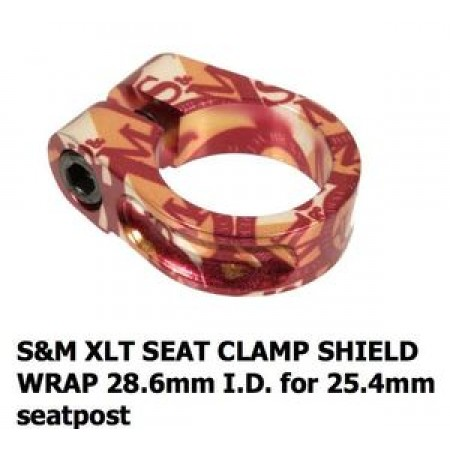 S&M Bikes Xlt Shield Wrap Seatpost Clamp 28.6 Mm 25.4 Mm 28.6mm Seat Post Race