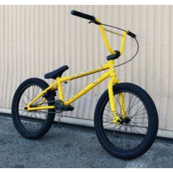 2014 Cult Bart Simpson Yellow Complete Bike The Simpsons Bmx Bikes Fit S&M 20.5