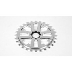 Fit Bike Key Drive Sprocket 28 Polished Bright Silver 24 Mm Splined Spline 28t