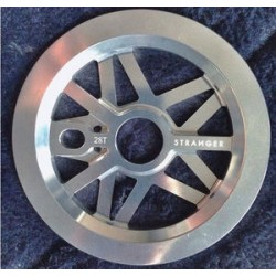 Stranger Strangegram Sprocket Guard 28t Polished S&M Bmx Bikes Fbm Profile 28
