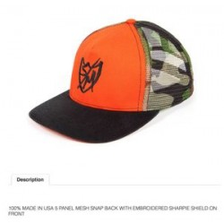 S&M Camo Mesh Bmx Hat Orange Bikes Bike Bmx Trucker Crew Fit Hunting Orange