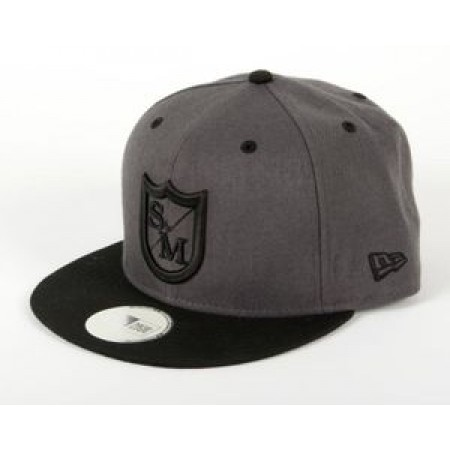S&M New Era Trails Hat Grey Black Snapback Gray Bmx Bike Bikes Snap Back