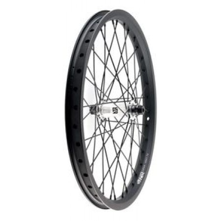 Stranger Crux Front Wheel Complete Black Silver Female 10 Mm 3/8 36  Bmx Bike