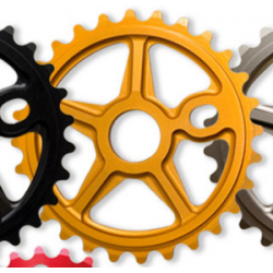 S&M Bikes Tuff Man Lite Gold Sprocket Chainwheel 30 T